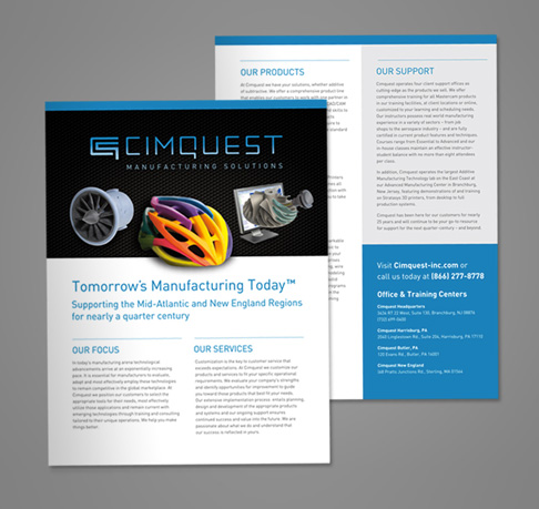 Cimquest Branding Collateral And Trade Show Design  Aviate Creative