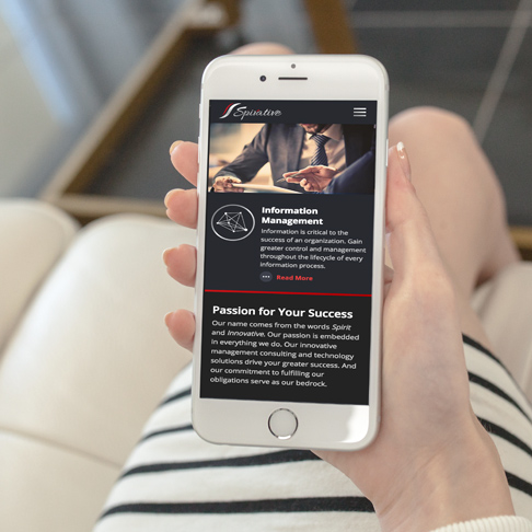 Spirative consulting mobile responsive website design
