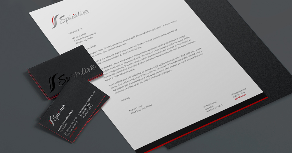 amazing cool elegant business cards and letterhead design