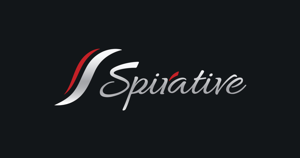 Spirative script shiney logo design
