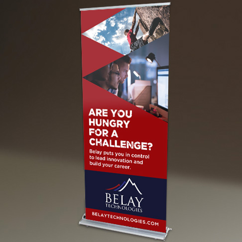 Belay Technologies trade show display design
