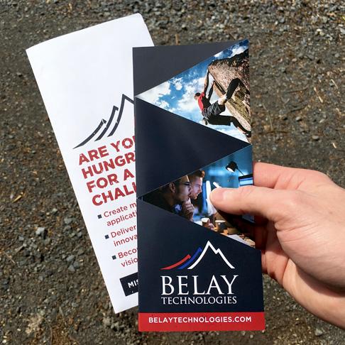 Technology quad-fold brochure design