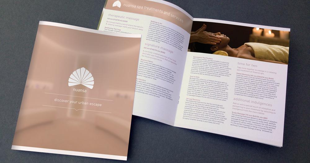 nuansa spa brochure design